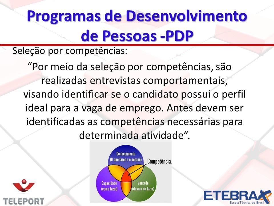 Seleção por competências: Por meio da seleção por competências, são realizadas entrevistas comportamentais, visando identificar se o candidato possui