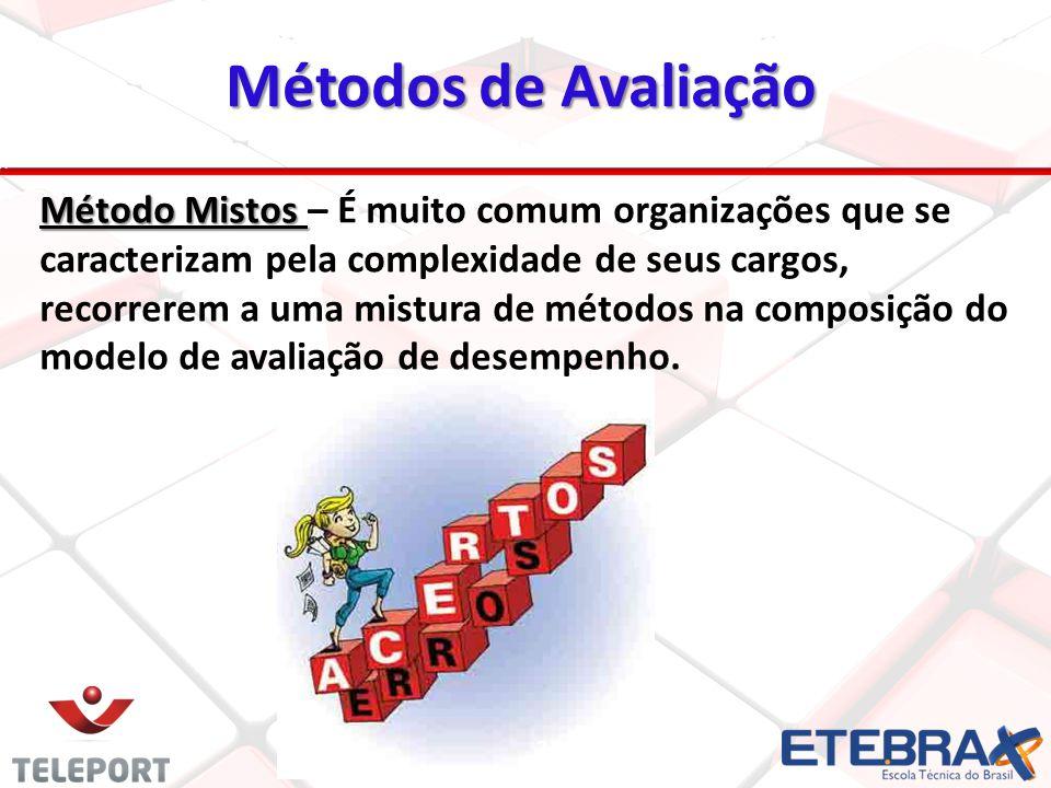 22 Método Mistos Método Mistos – É muito comum organizações que se caracterizam pela complexidade de seus cargos, recorrerem a uma mistura de métodos