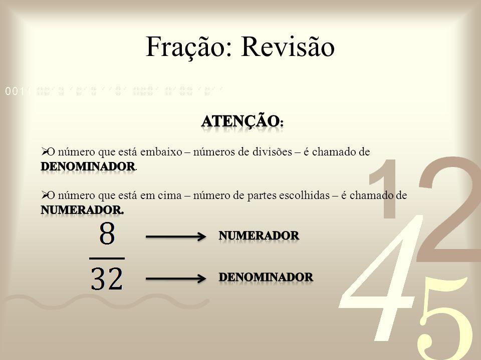 Fração: Operações Aritméticas Divisão Como dividir UM QUARTO da caixa pelo UM OITAVO (tamanho do carrinho de brinquedo.