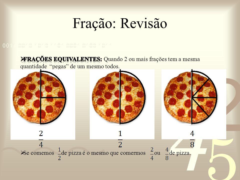 Fração: Número Misto Como representar DUAS PIZZAS faltando pedaços em uma FRAÇÃO.
