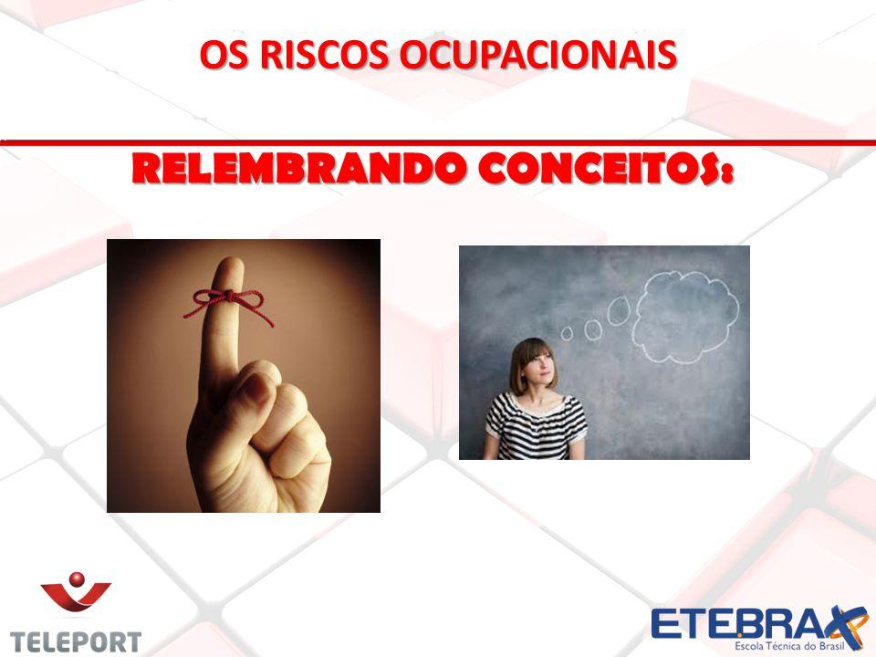 OS RISCOS OCUPACIONAIS RELEMBRANDO CONCEITOS: