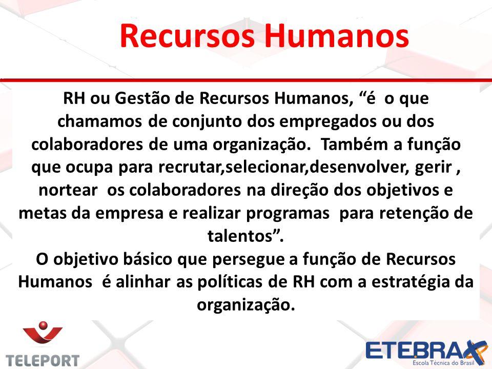 Recursos Humanos RH ou Gestão de Recursos Humanos, é o que chamamos de conjunto dos empregados ou dos colaboradores de uma organização. Também a funçã