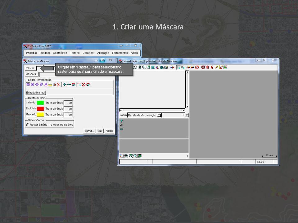 Depois de ter selecionado todos os pixels, que representam nuvens, clique no ícone Excluir do Raster para adicionar os pixels selecionados à máscara.