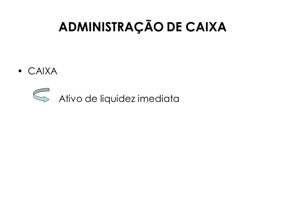 ADMINISTRAÇÃO DE CAIXA Curso de Gestão Financeira de Negócios
