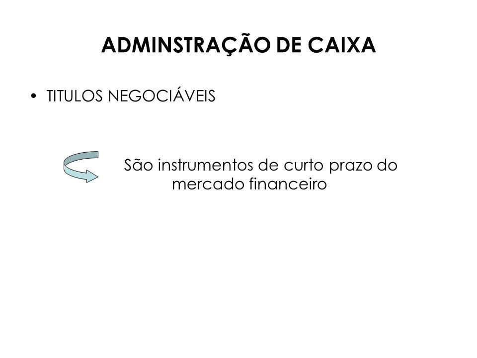 ADMINISTRAÇÃO DE CAIXA CAIXA Ativo de liquidez imediata