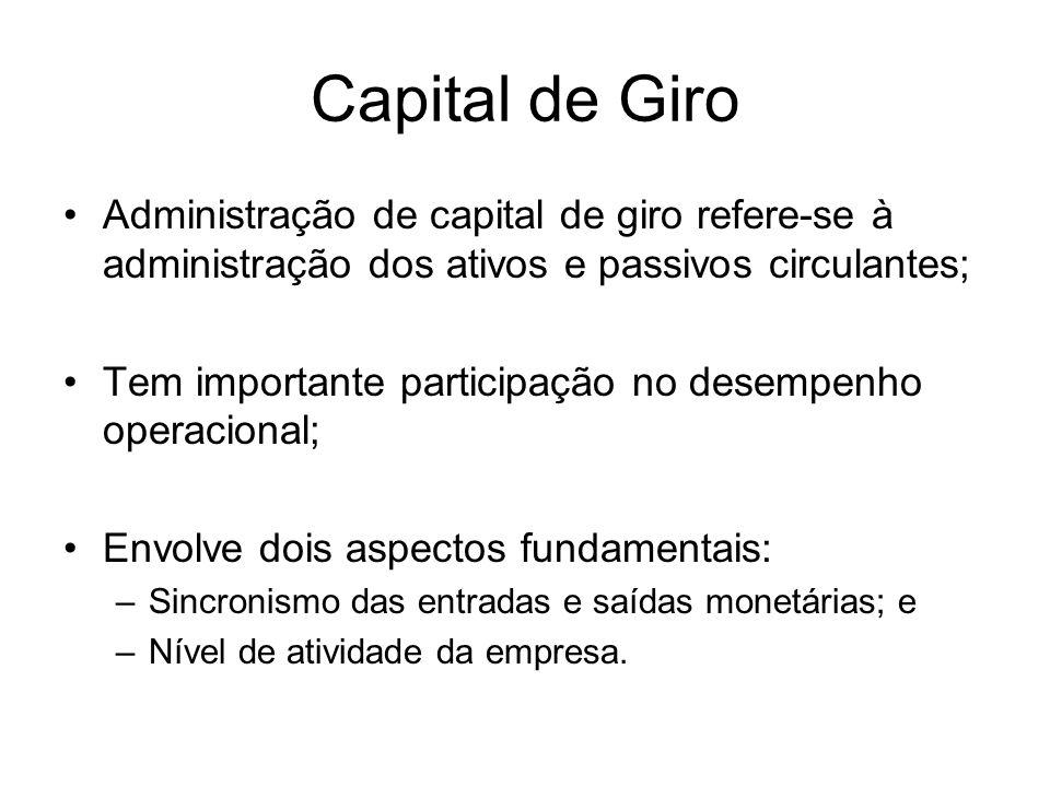 Capital de Giro Capital de giro Capital de giro