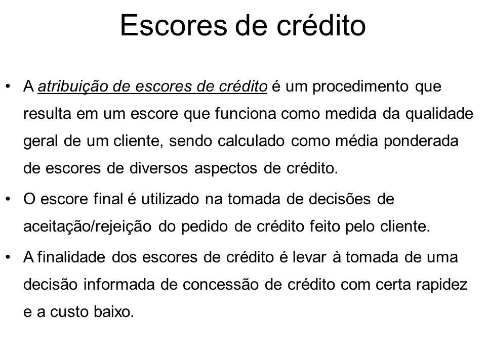 Fontes de informação para a avaliação do crédito Internas: histórico do cliente, demonstrações financeiras, conjuntura atual interna (volume de estoqu