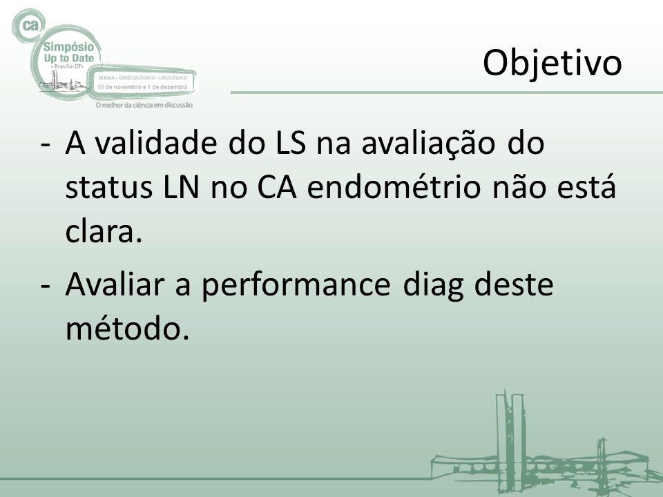 Objetivo -A validade do LS na avaliação do status LN no CA endométrio não está clara.