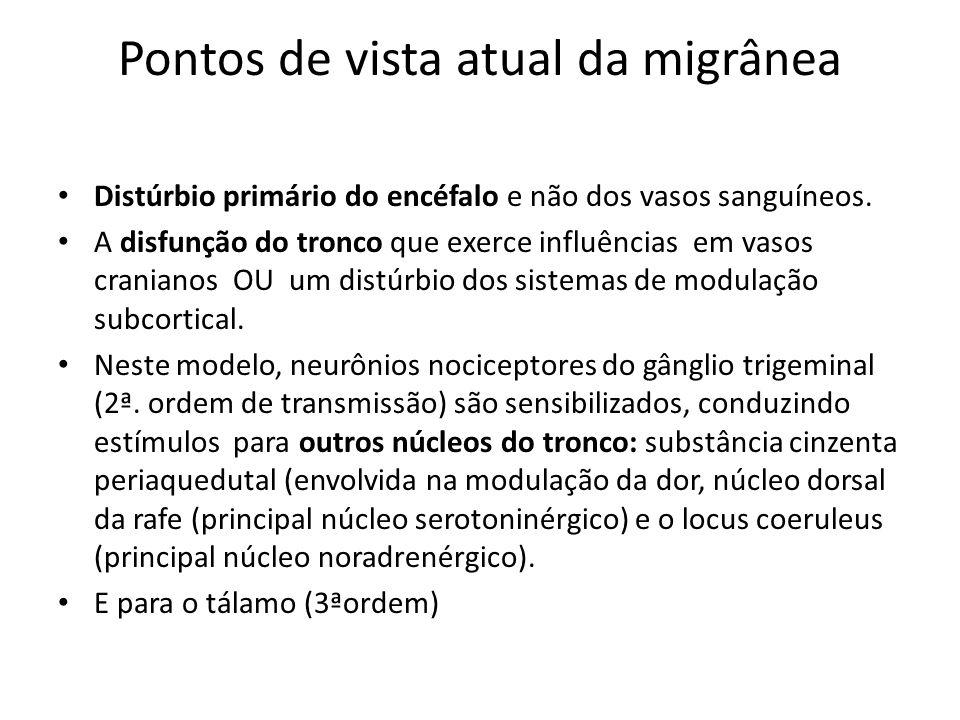 neurovascular Anormalidade na modulação dos circuitos do tronco cerebral.