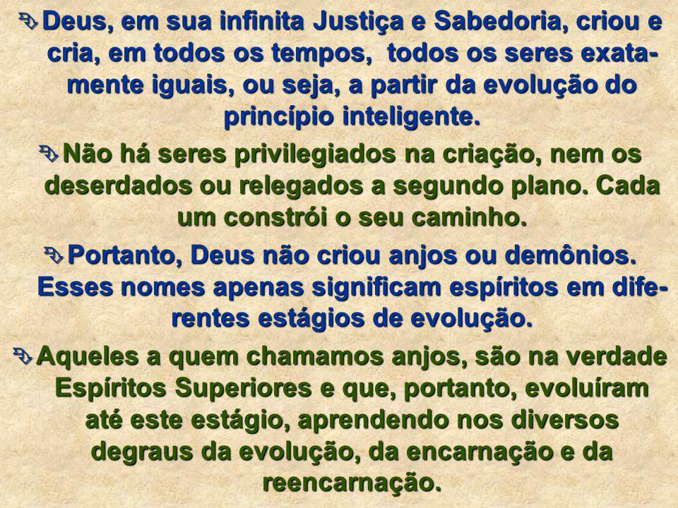 evolução Assim sendo, o Espírito evolui constantemente, desde que foi criado por Deus, a partir da evolução do princípio inteligente.