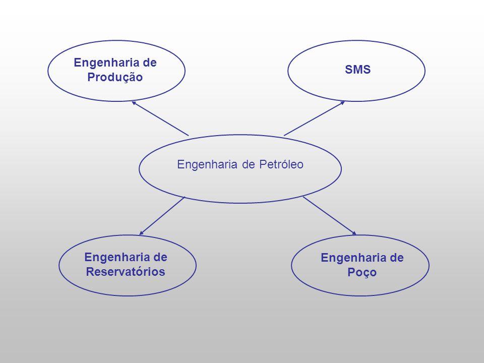 Engenharia de Petróleo Engenharia de Reservatórios SMS Engenharia de Produção Engenharia de Poço