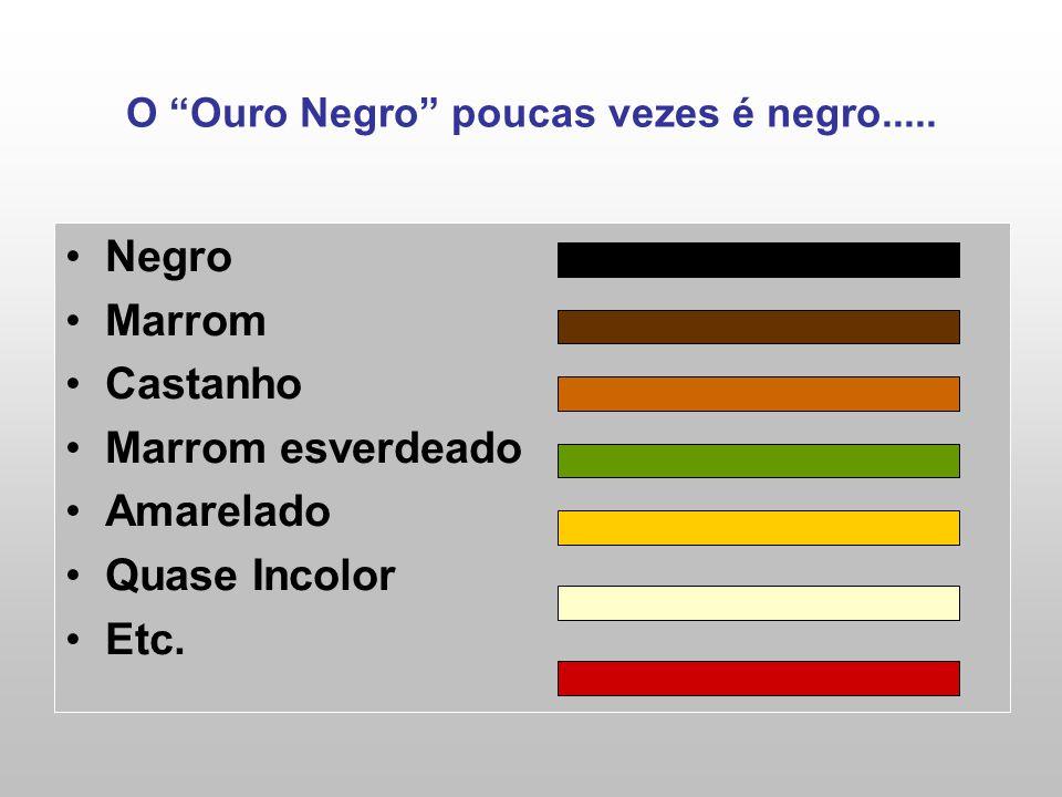 O Ouro Negro poucas vezes é negro..... Negro Marrom Castanho Marrom esverdeado Amarelado Quase Incolor Etc.