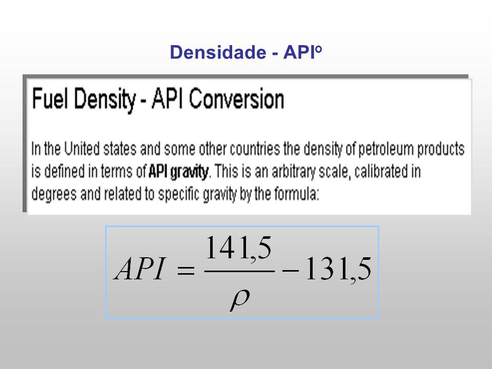 Densidade - API o