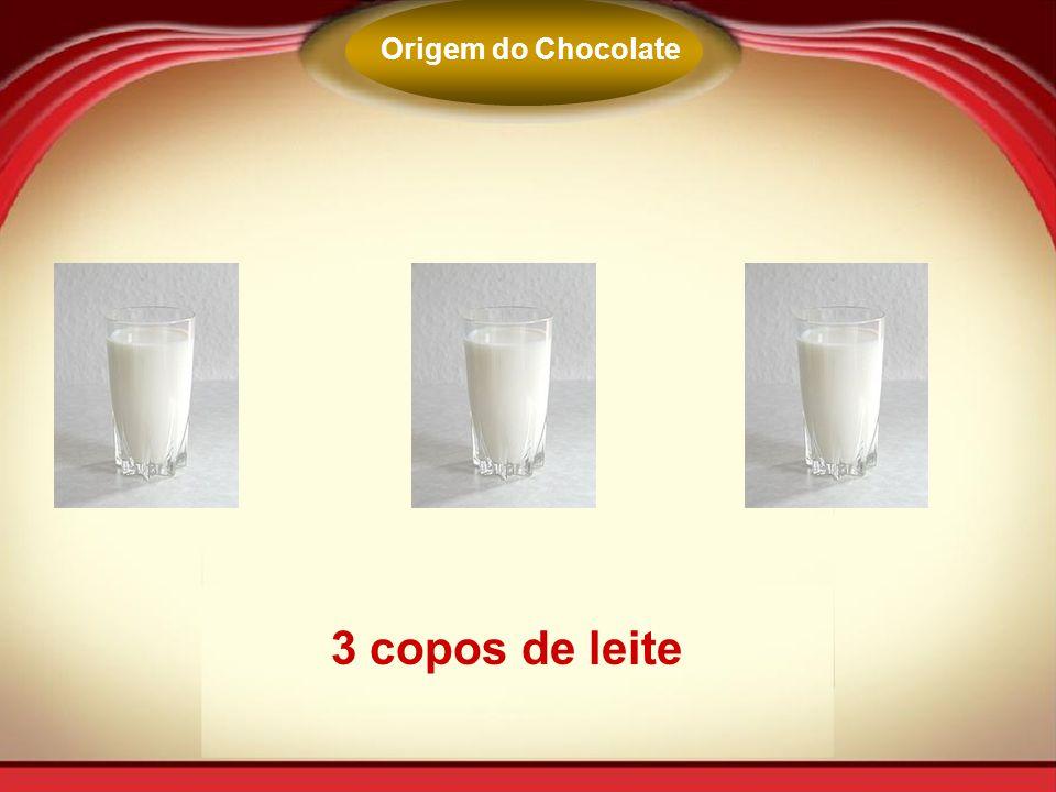 3 copos de leite Origem do Chocolate