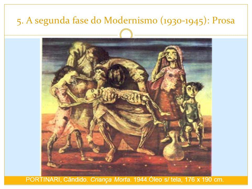 5. A segunda fase do Modernismo (1930-1945): Prosa PORTINARI, Cândido. Criança Morta. 1944.Óleo s/ tela, 176 x 190 cm.