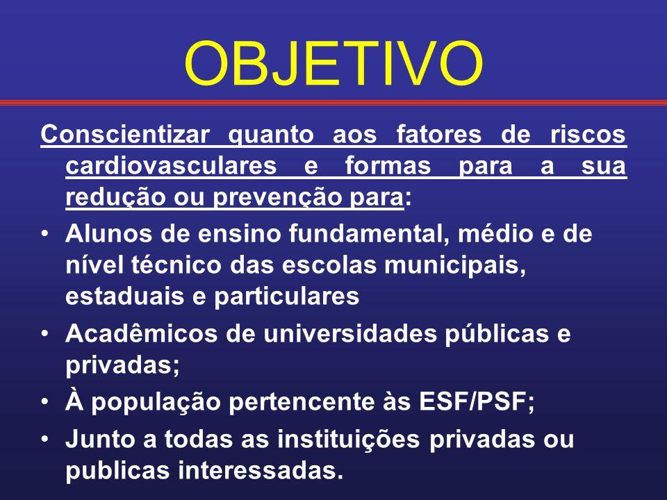 INSTRUMENTAÇÃO: Criação-DISTRIBUIÇÃO de um folder explicativo sobre os fatores de risco cardiovascular com medidas preventivas;