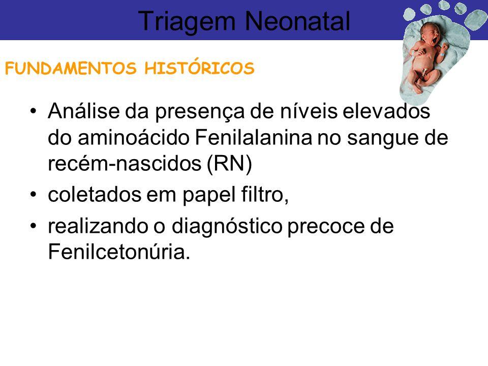 Análise da presença de níveis elevados do aminoácido Fenilalanina no sangue de recém-nascidos (RN) coletados em papel filtro, realizando o diagnóstico
