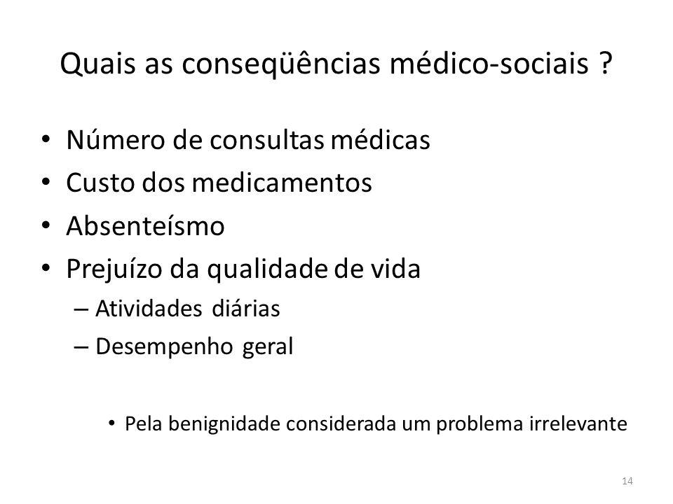 Quais as conseqüências médico-sociais .