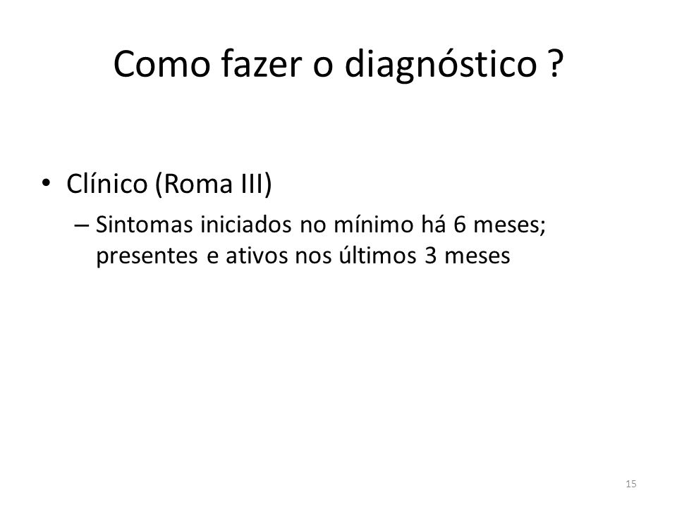Como fazer o diagnóstico .