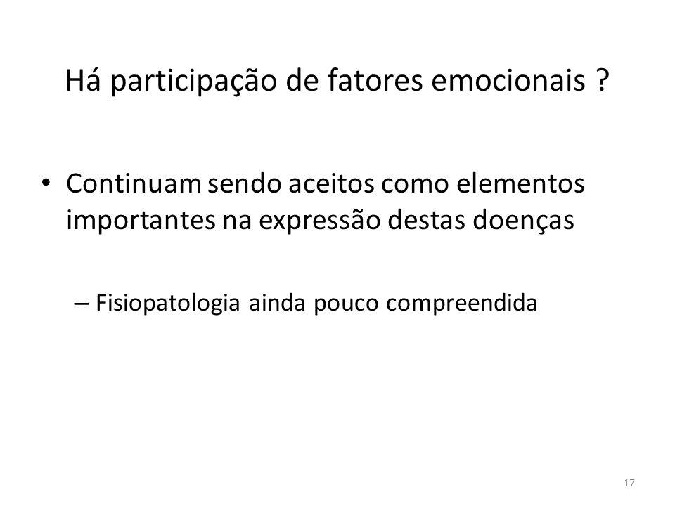 Há participação de fatores emocionais .