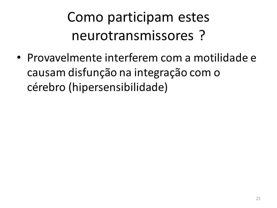 Como participam estes neurotransmissores .