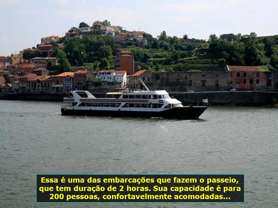 Zona ribeirinha do Porto, próxima à foz do Rio Douro, onde são feitos os românticos passeios de barcos. Observe a limpeza das ruas e do próprio rio...