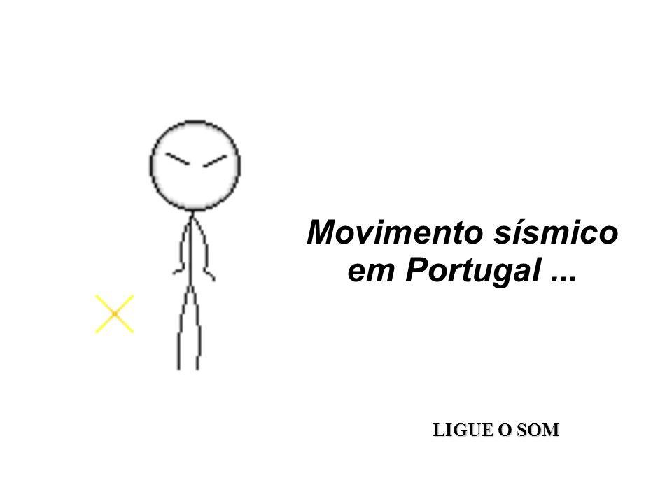 Movimento sísmico em Portugal... LIGUE O SOM
