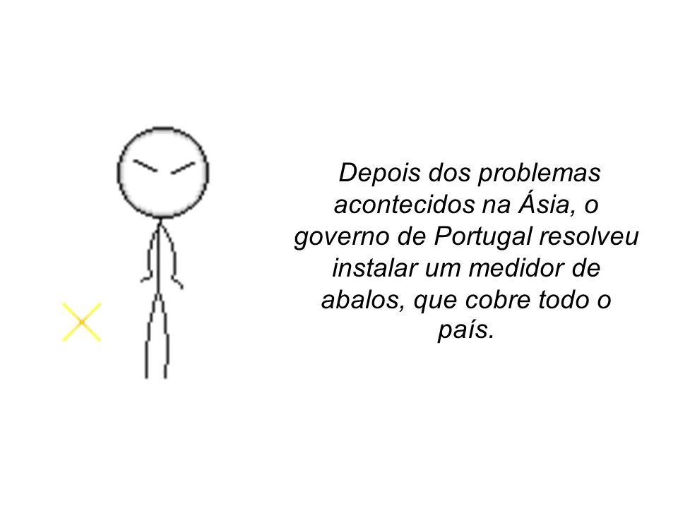 Depois dos problemas acontecidos na Ásia, o governo de Portugal resolveu instalar um medidor de abalos, que cobre todo o país.