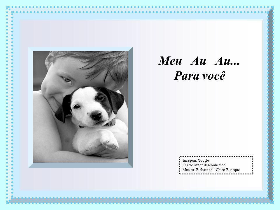 Meu Au Au... Para você Imagem: Google Texto: Autor desconhecido Música: Bicharada – Chico Buarque