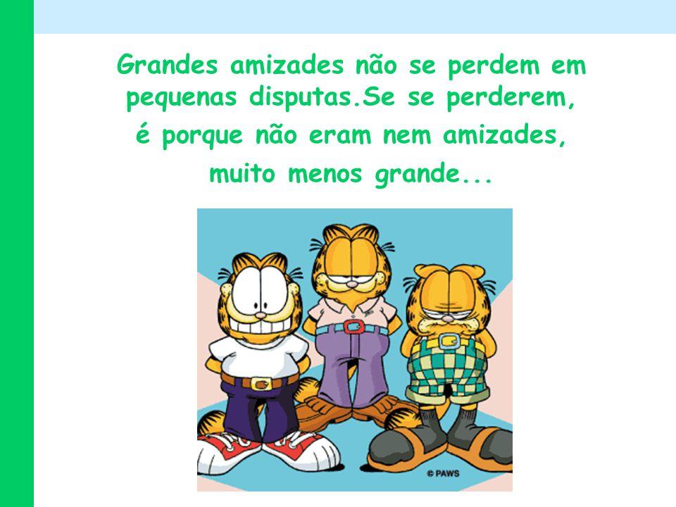 Grandes amizades não se perdem em pequenas disputas.Se se perderem, é porque não eram nem amizades, muito menos grande...