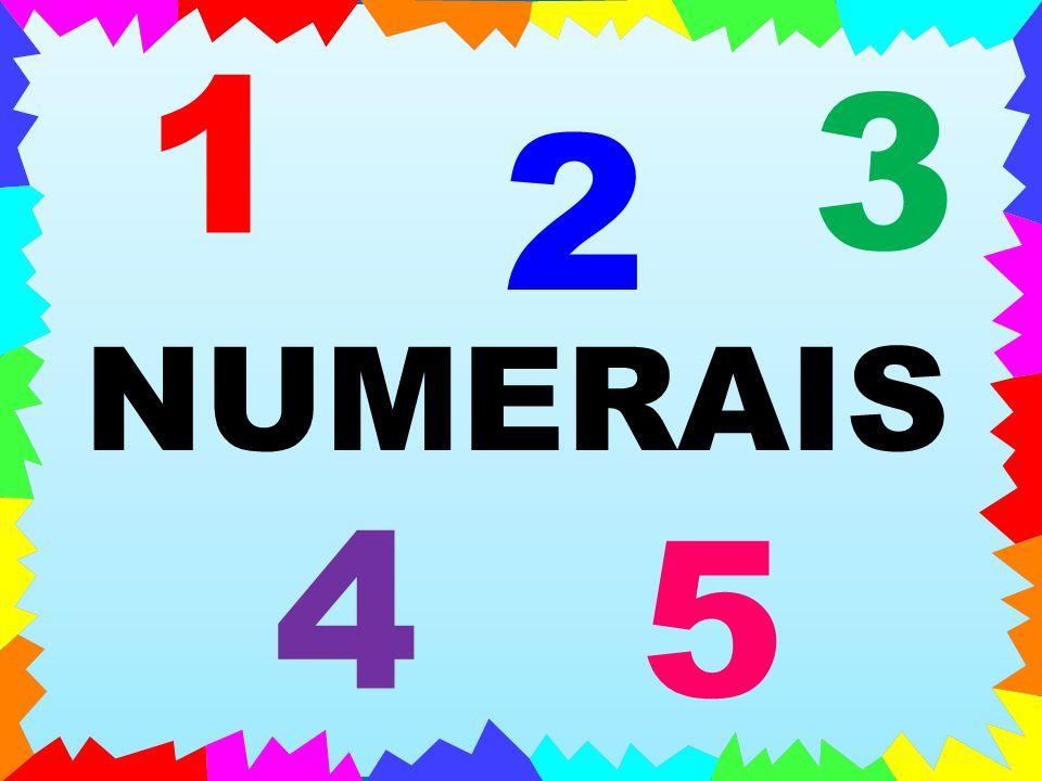 NUMERAIS 1 2 3 4 5