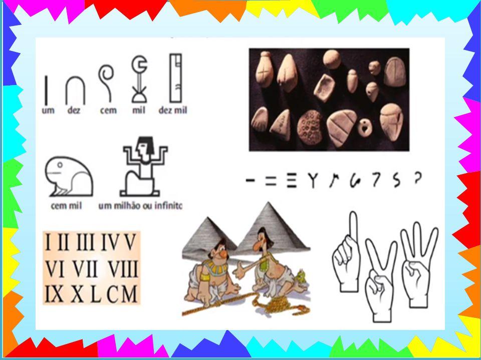 Nos primeiros tempos da humanidade, eram usados os dedos, pedras, os nós de uma corda, gravetos, marcas num osso para realizar as primeiras contagens.