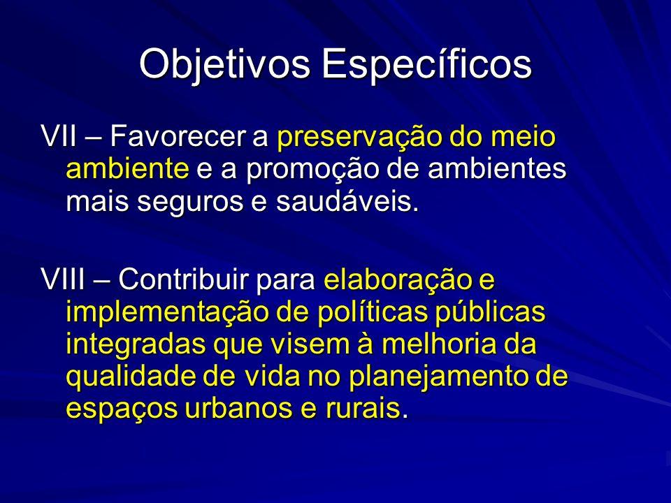 Objetivos Específicos IX – Ampliar os processos de integração baseados na cooperação, solidariedade e gestão democrática; X – Prevenir fatores determinantes e/ou condicionantes de doenças e agravos à saúde.