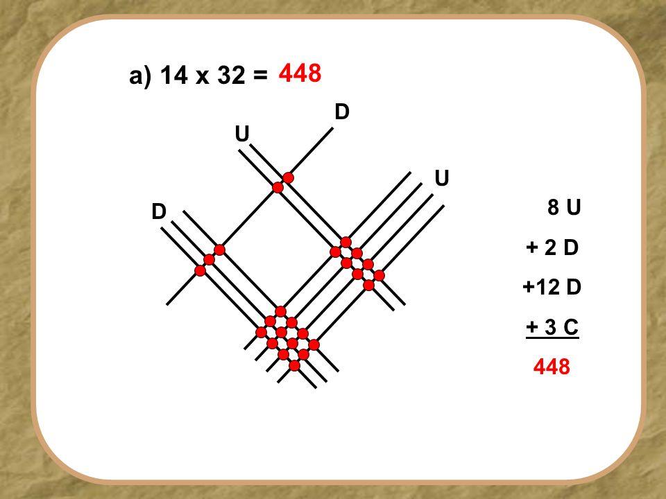 U D U D a) 14 x 32 = 448 8 U + 2 D +12 D + 3 C 448