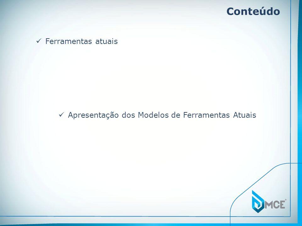 Conteúdo Ferramentas atuais Apresentação dos Modelos de Ferramentas Atuais