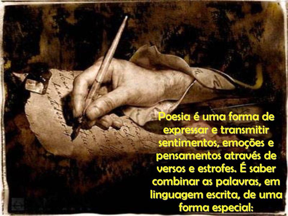 Poesia é brincar com palavras / como se brinca com bola, papagaio e pião.