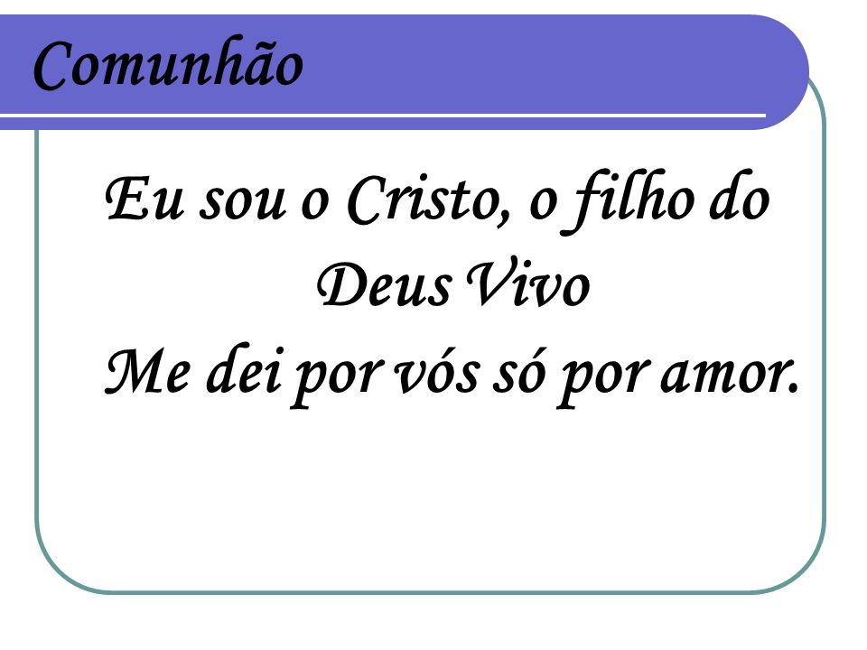 Comunhão Eu sou o Cristo, o filho do Deus Vivo Me dei por vós só por amor.