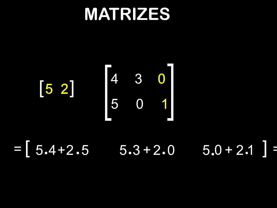 = [ 54+2553 + 20 52 + 1 0 ] = [ 5 2 ] 430 501 = [] = = [ 30152 ] 54+2554+25 53 + 2053 + 20 30 unidades vit.