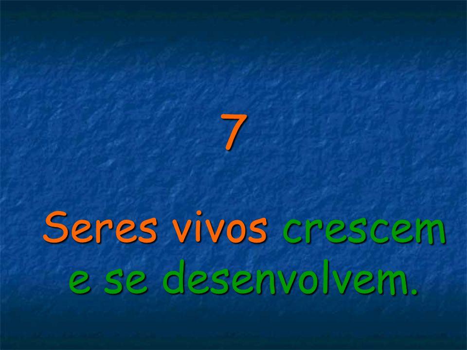 7 Seres vivos crescem e se desenvolvem.