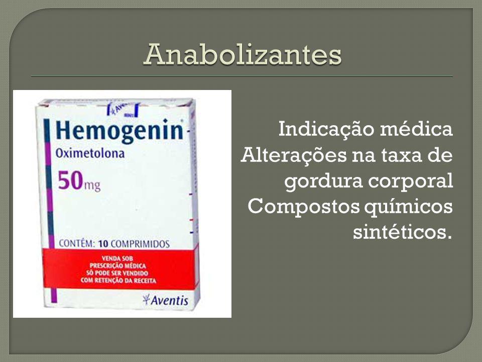 Indicação médica Alterações na taxa de gordura corporal Compostos químicos sintéticos.