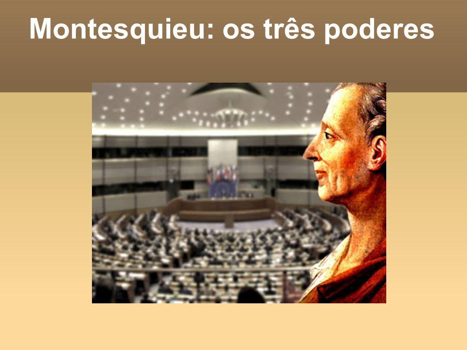 Montesquieu: os três poderes