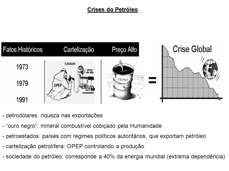 - petrodólares: riqueza nas exportações - ouro negro: mineral combustível cobiçado pela Humanidade - petroestados: países com regimes políticos autori