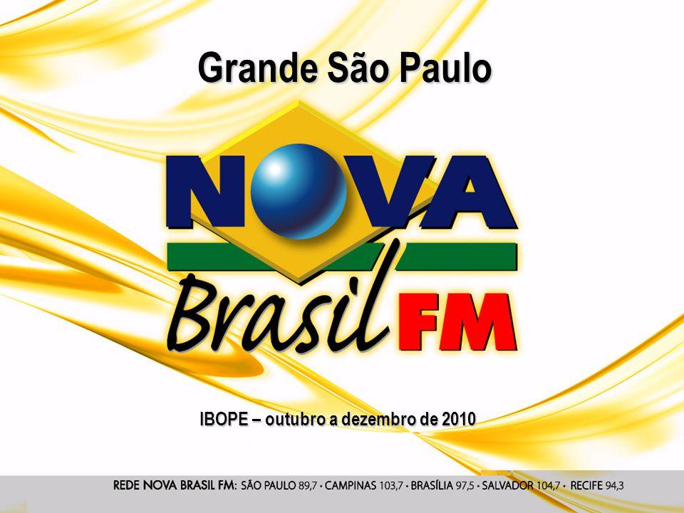 IBOPE – outubro a dezembro de 2010 Grande São Paulo