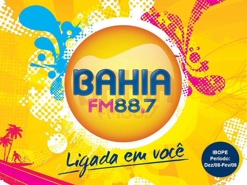A Bahia FM é 2º lugar na audiência geral A Bahia FM é 2º lugar na audiência geral e pode ser sintonizada no dial 88.7, a primeira do dial FM.