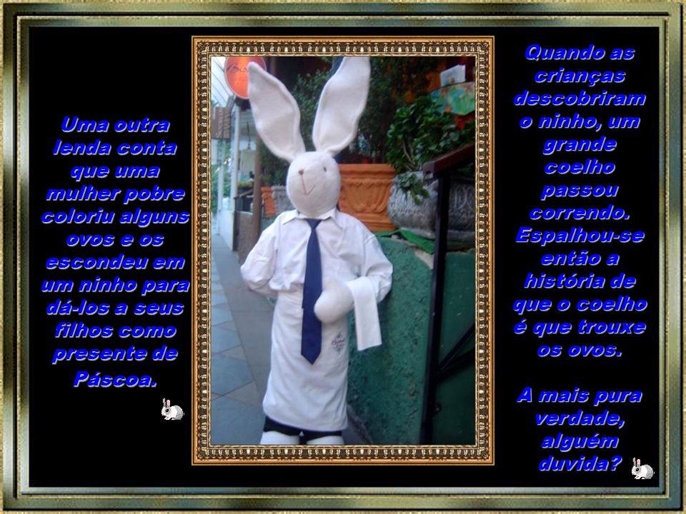 A tradição do coelho da Páscoa foi trazida à América por imigrantes alemães em meados de 1700. O coelhinho visitava as crianças, escondendo os ovos co