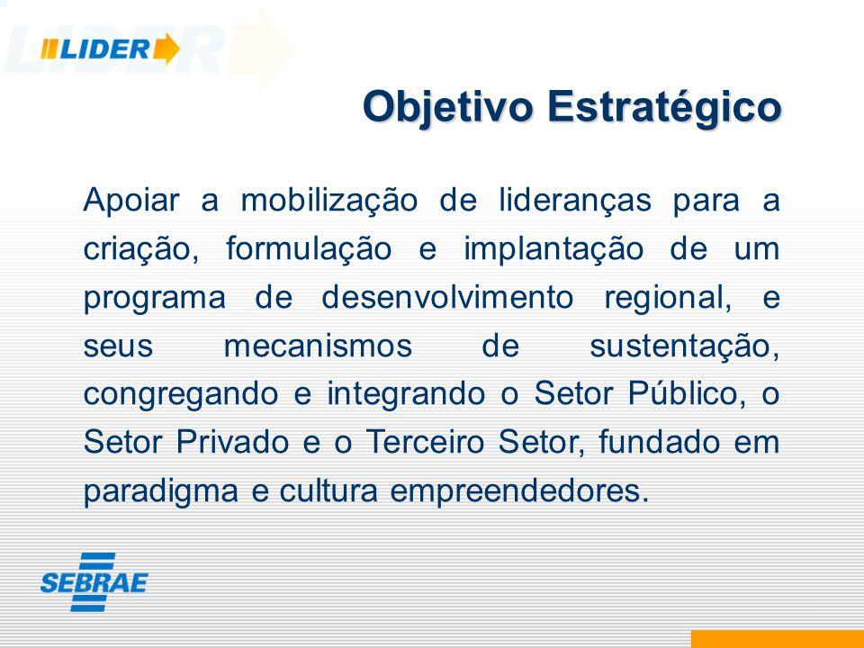 Apoiar a mobilização de lideranças para a criação, formulação e implantação de um programa de desenvolvimento regional, e seus mecanismos de sustentaç