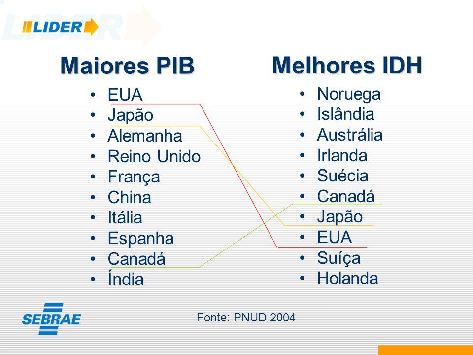 BRASIL Concentração de Renda 14° PIB 69° IDH (entre 177 países) 11° em concentração de renda Fonte: PNUD 2004