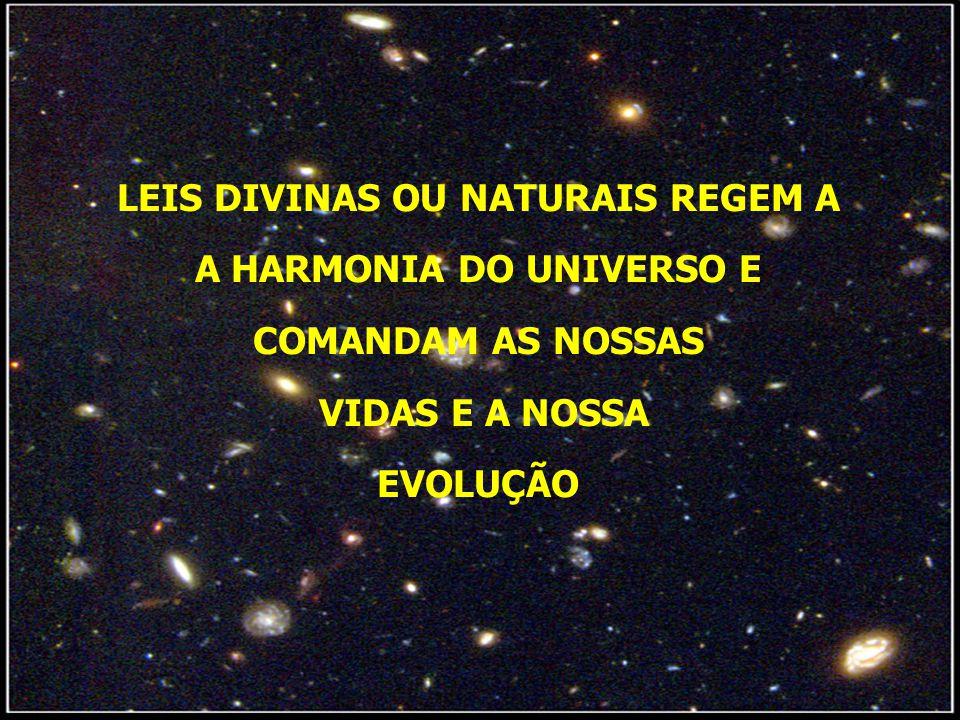 LEIS DIVINAS OU NATURAIS REGEM A A HARMONIA DO UNIVERSO E COMANDAM AS NOSSAS VIDAS E A NOSSA EVOLUÇÃO