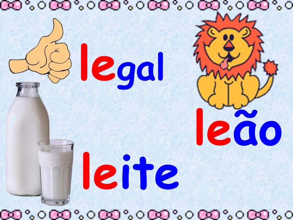 Quando a letrinha L se encontra com a vogal I é a maior animação,elas formam a sílaba LI.