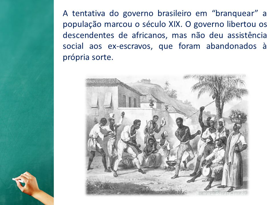 A tentativa do governo brasileiro em branquear a população marcou o século XIX.